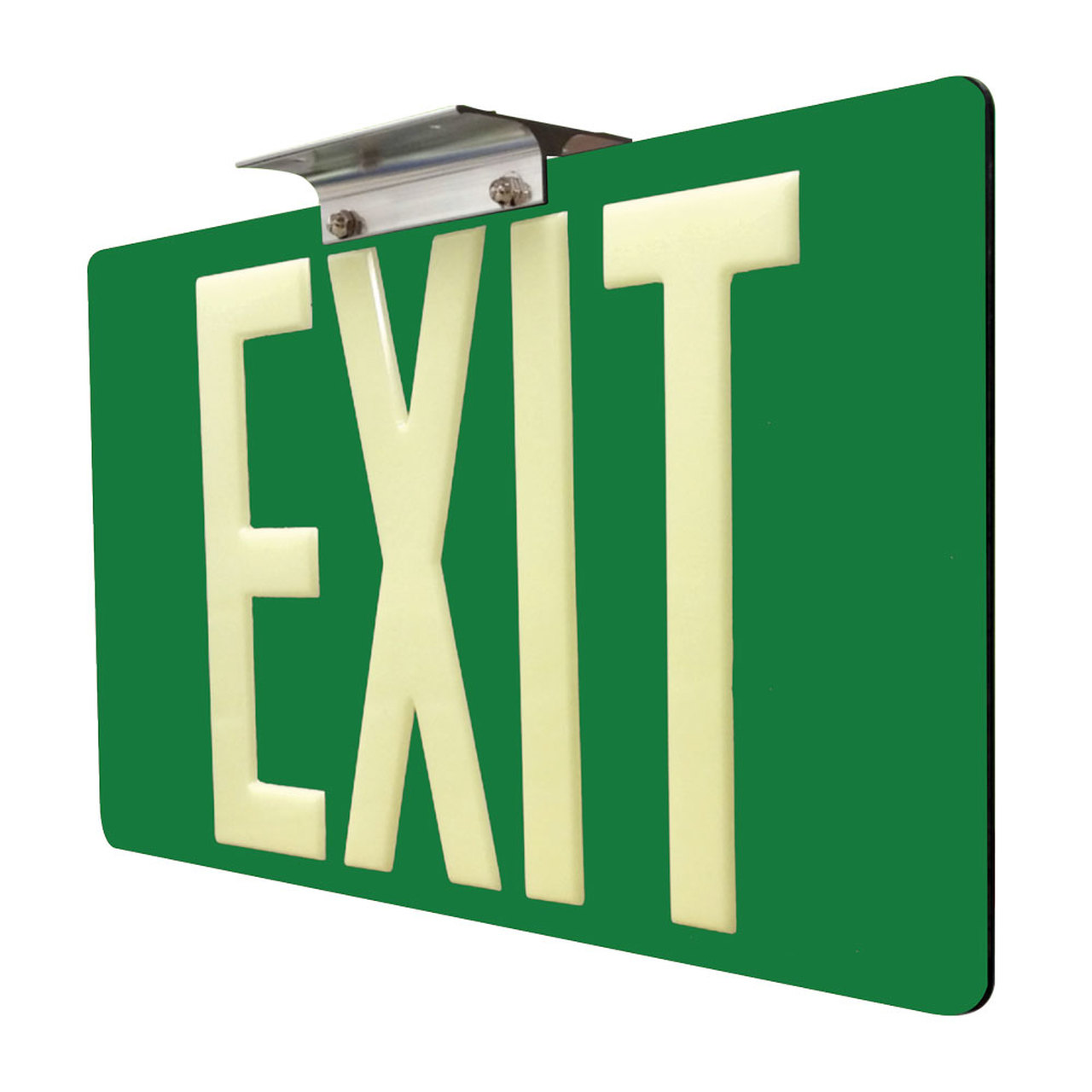 75 Glow In The Dark Exit Sign with Green Background 1000x1000
