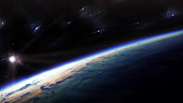 Dark Blue Space Wallpaper HD 600x338
