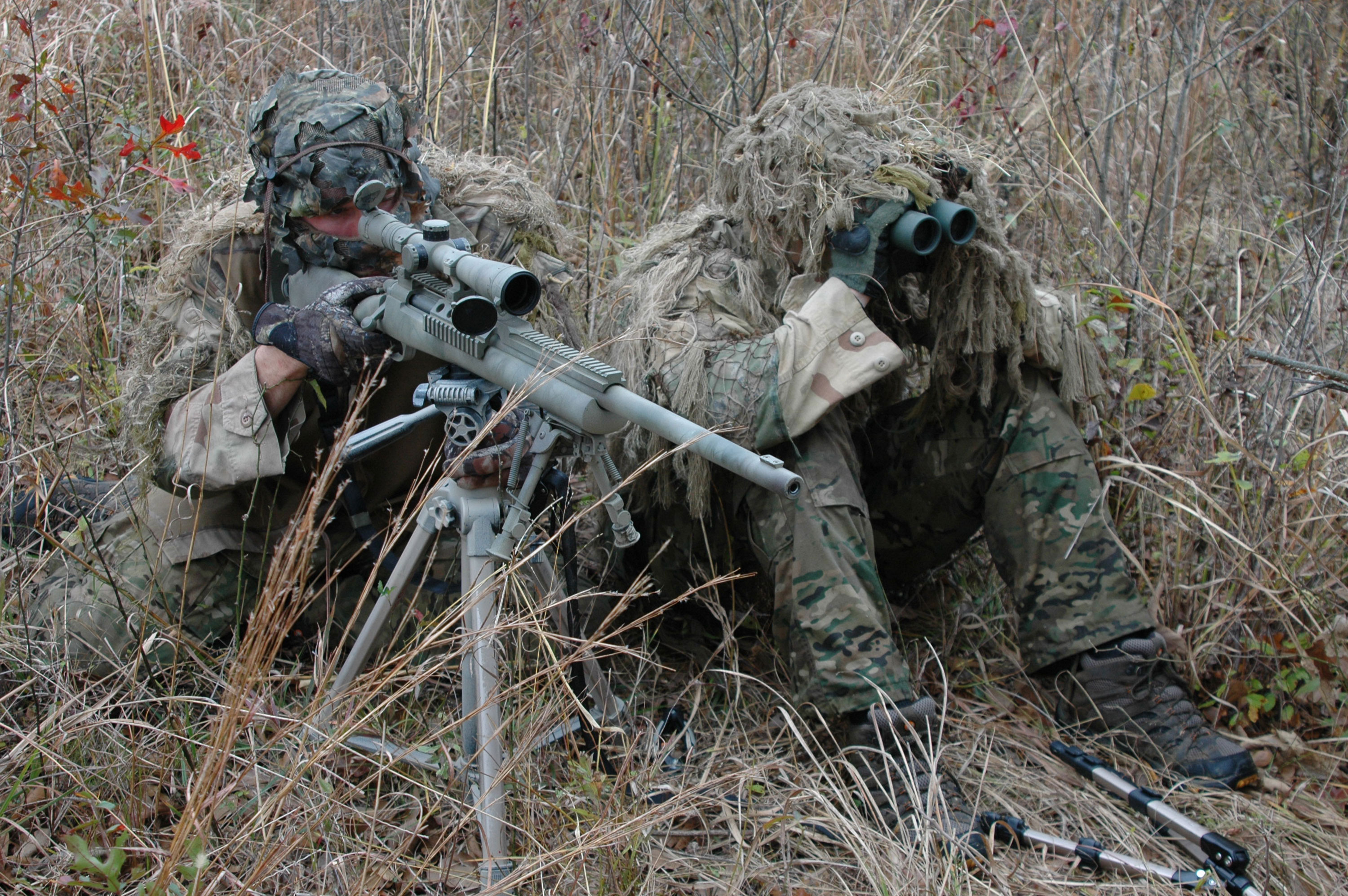 Photo featuring a 2 man Army Ranger sniper team More US SOF photos at 3000x1995