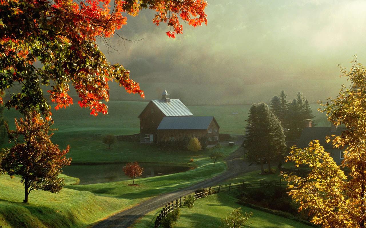Farm House Wallpaper 1280x800 1280x800
