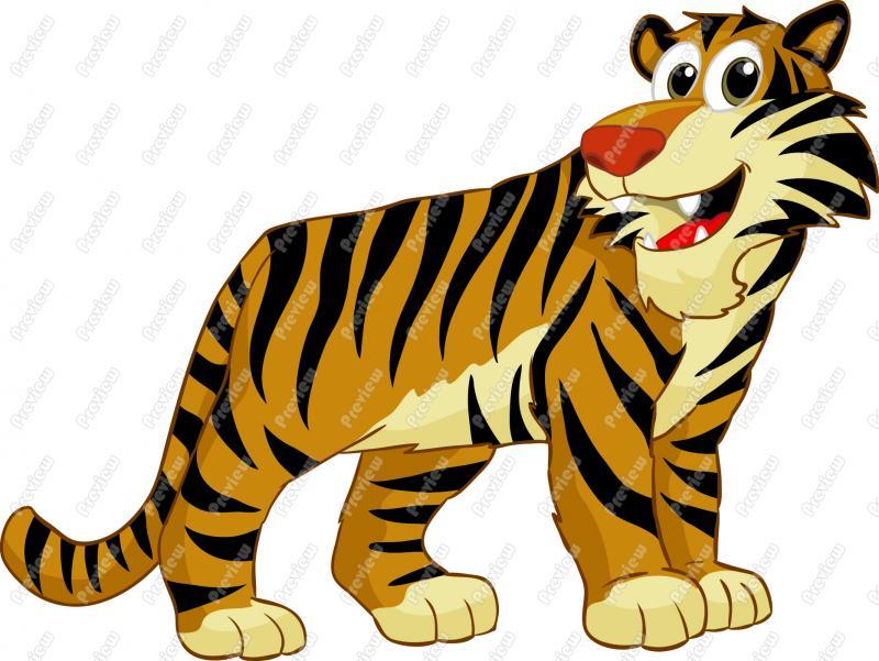 Cartoon Tiger Clip Art 800x601