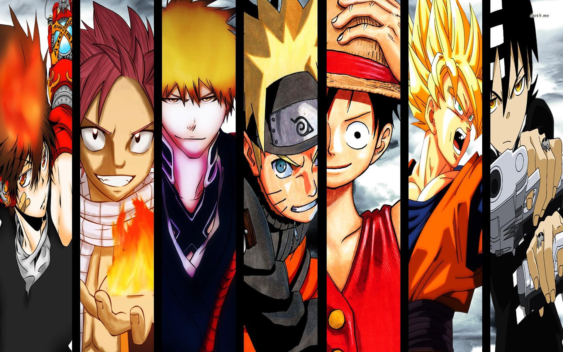 characters Dragneel Natsu anime anime boys Dragon Ball Z Naruto 1920x1200