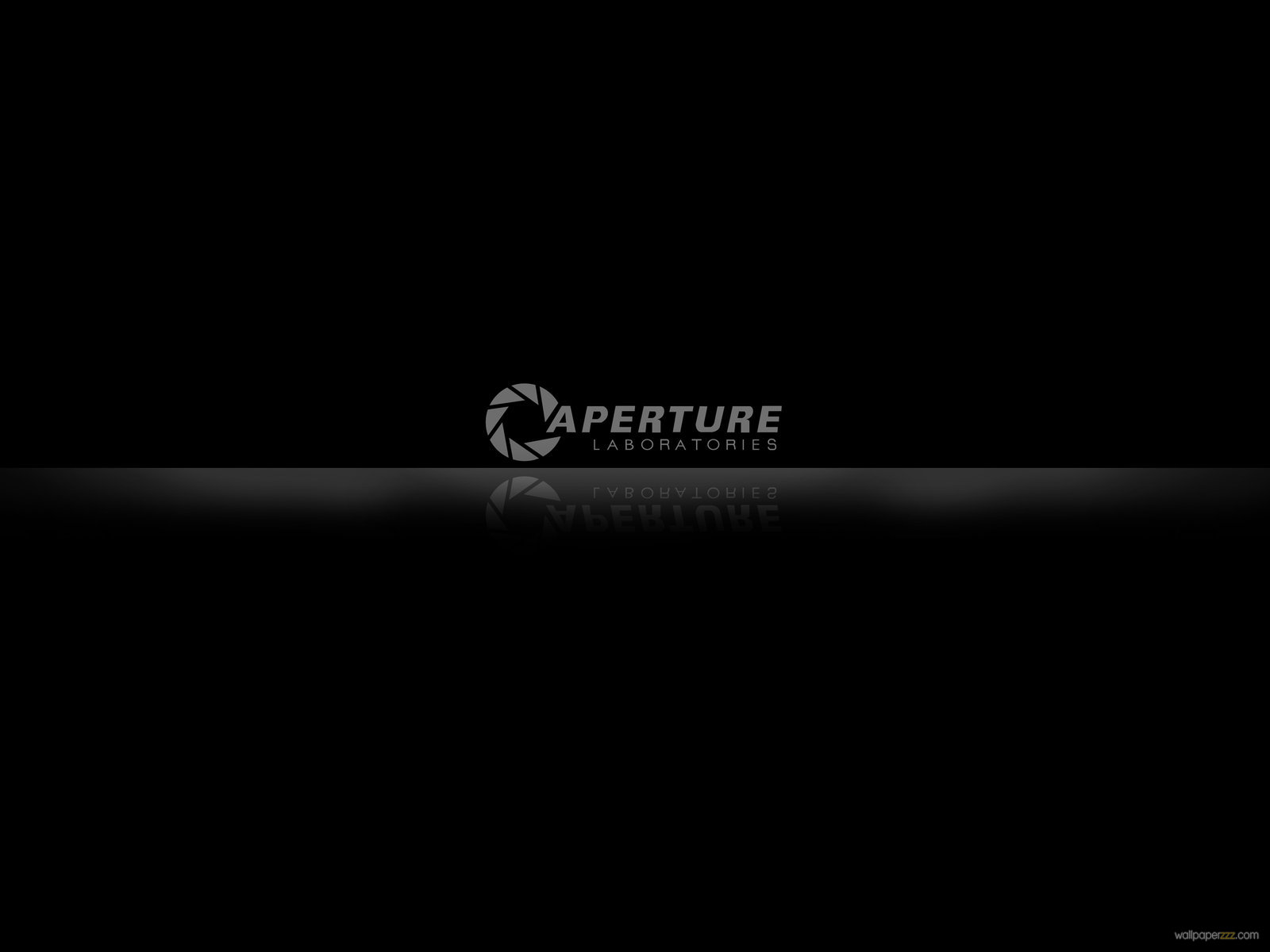 Download Aperture Logo On A Glossy Surface Wallpaper—Free Wallpaper