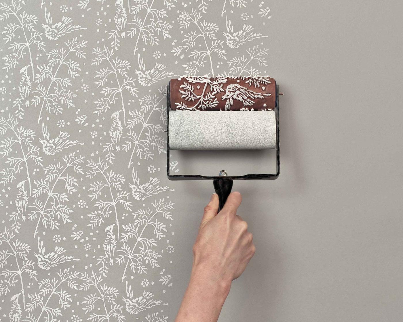 Wallpaper Paint The Paint Roller That Creates A Wallpaper Look 1400x1120