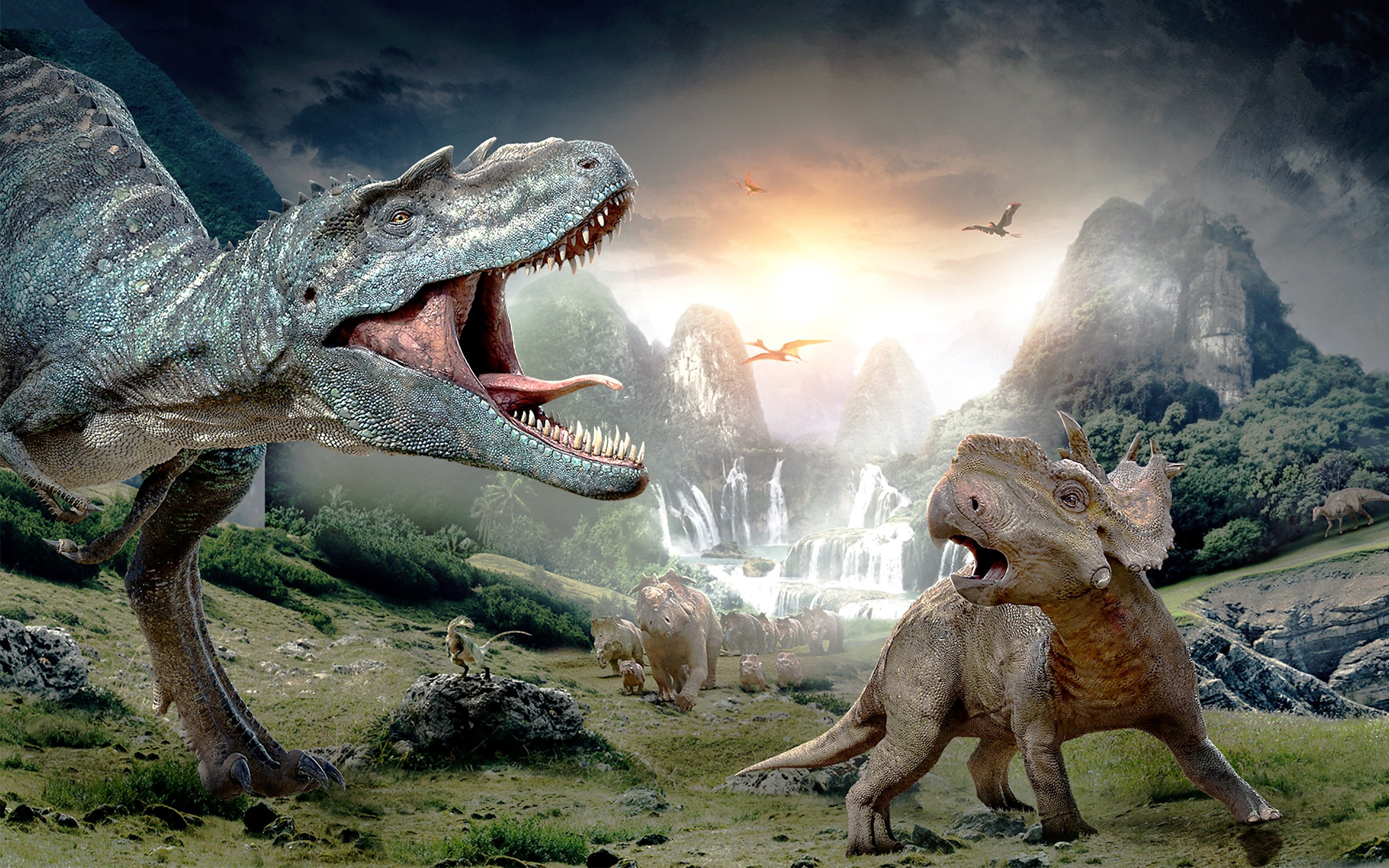 Walking with Dinosaurs 3D Wallpapers HD Wallpapers 2880x1800