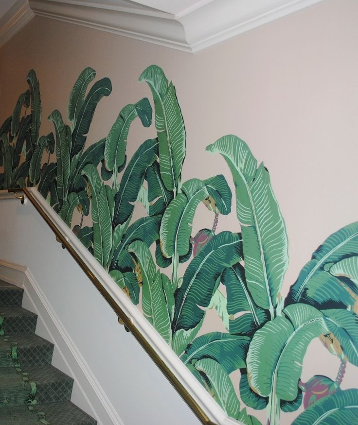 palm wallpaper beverly hills hotel   possible paneling or wallpaper 736x875