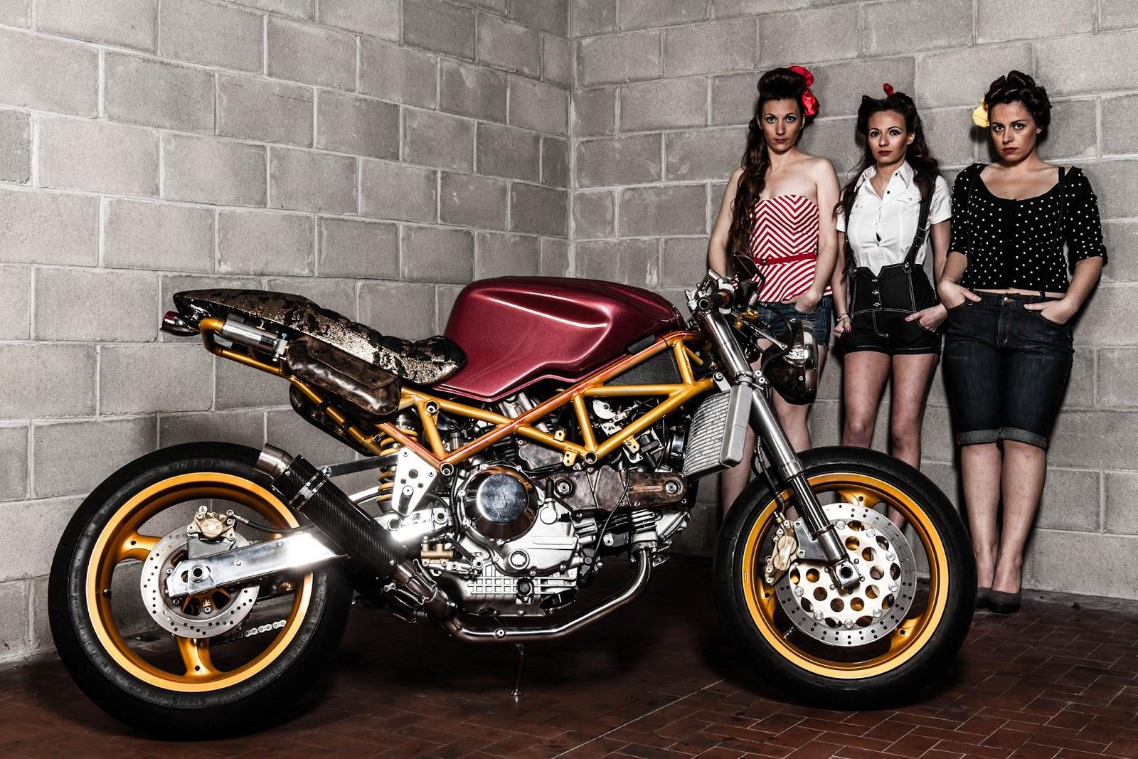 Motorcycle women wallpaper wallpapersafari - Cafe racer background ...