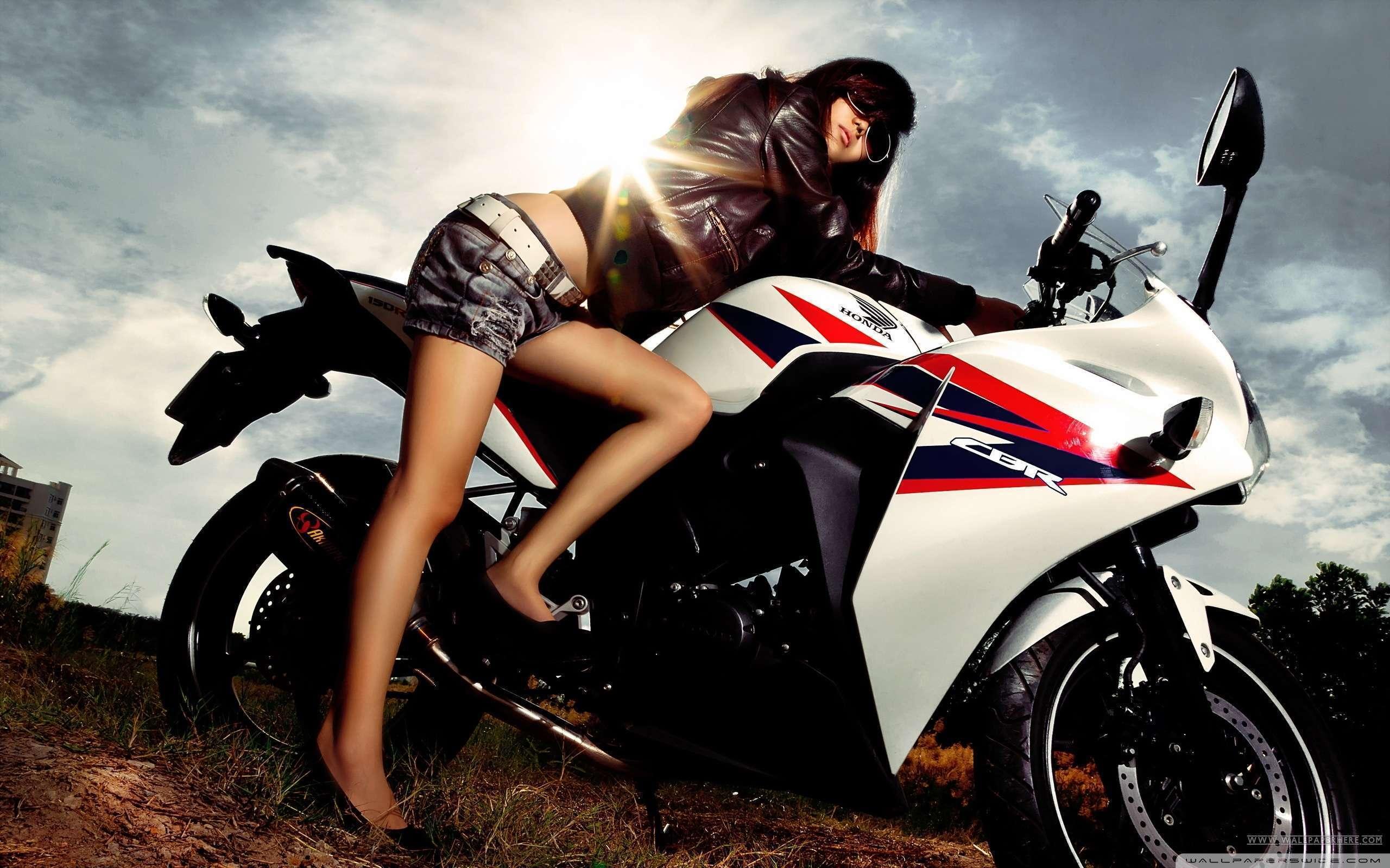 Motorcycle Girl Wallpaper Hd Car Wallpapers 2560x1600