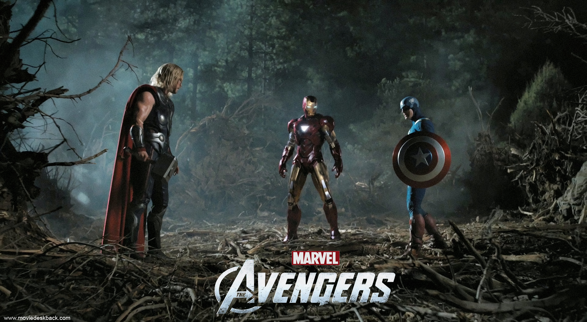 The Avengers 2012 Thor Iron Man and Captain America 1920x1056