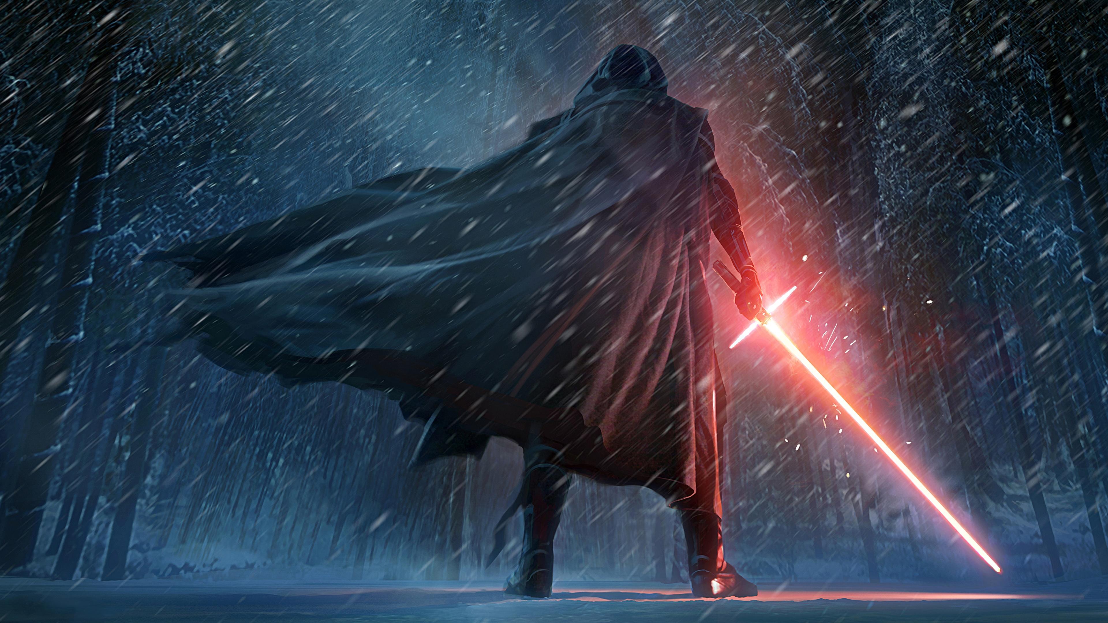 Kylo Ren Star Wars The Force Awakens Artwork Wallpapers HD 3840x2160