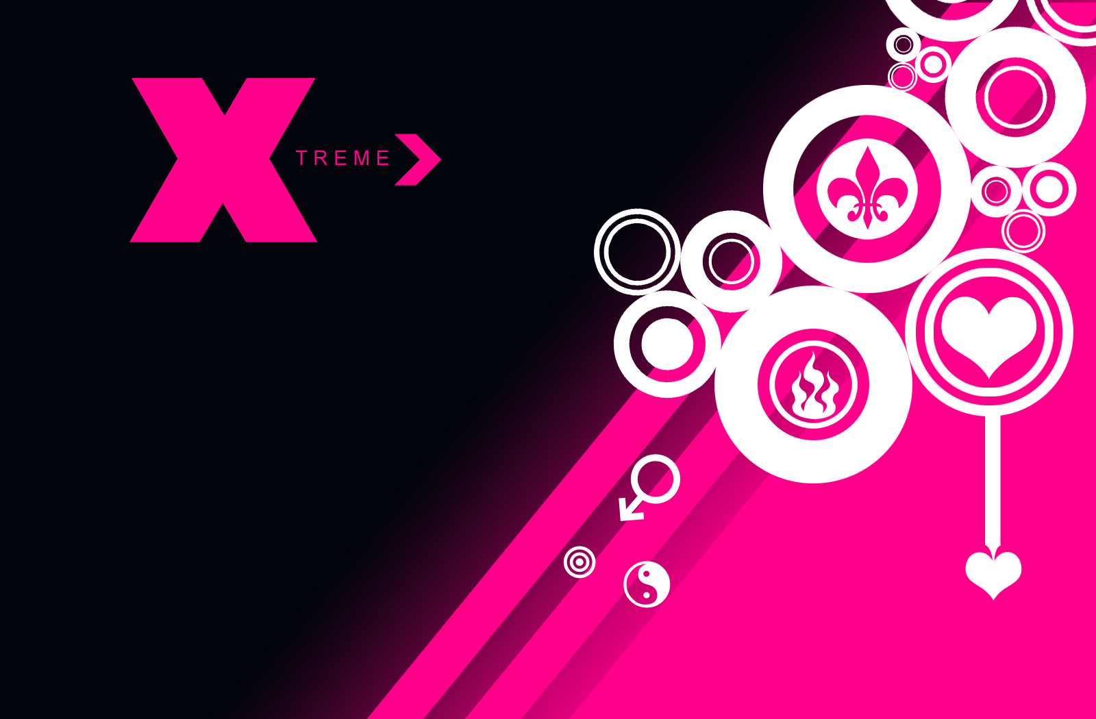 Wallpaper Black And Pink Desktop Cool Wallpapers 1600x1050