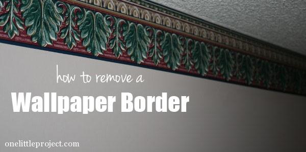 How to remove a wallpaper border 600x299