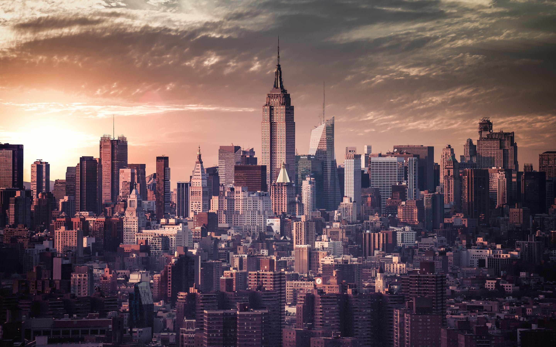 Vintage New York City Skyline Wallpaper   HD Background 2880x1800