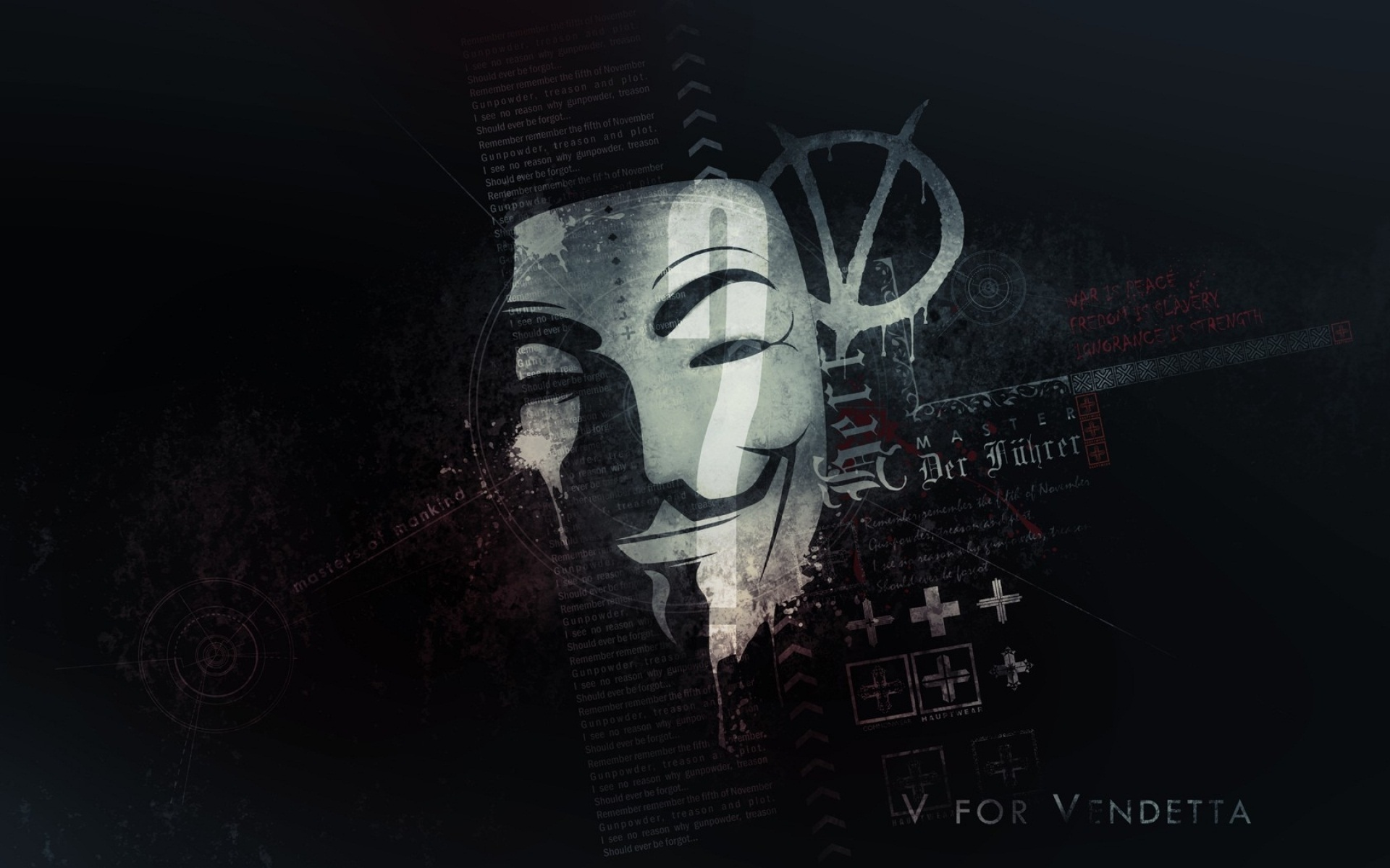 Anonymous Mask Wallpaper   V for Vendetta HD Wallpapers for 1920x1200