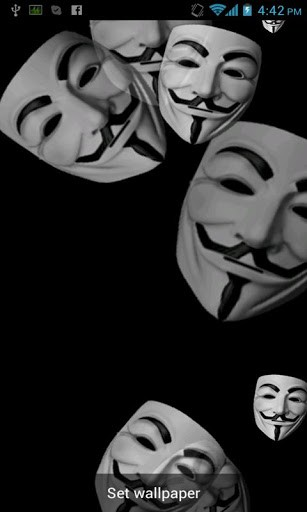 Download Anonymous Live Wallpaper for Android by badcompanyapps 307x512