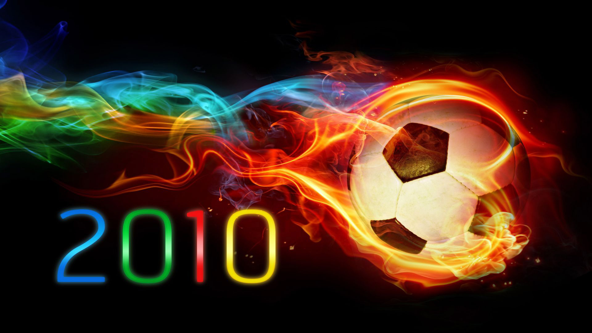 Cool Green Soccer Ball Wallpapers: Flaming Soccer Ball Wallpaper