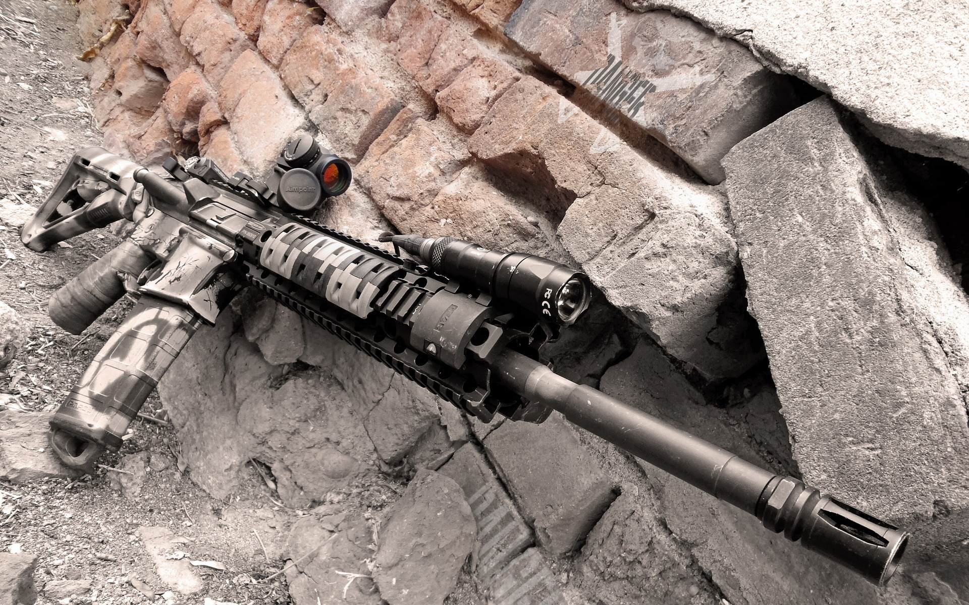 Colorado AR 15 military police weapon gun wallpaper 1920x1200 1920x1200