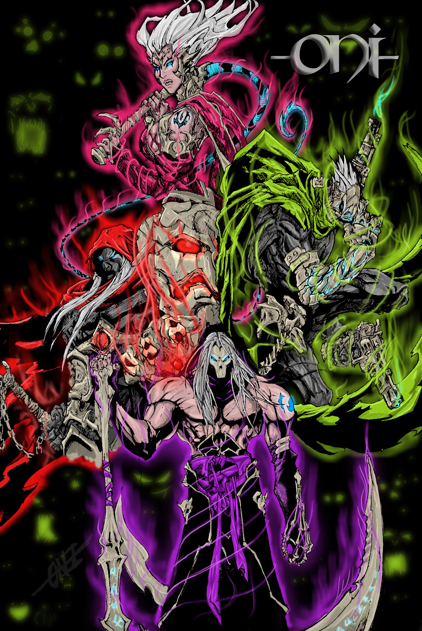 DarkSiders Four Horsemen by Lazzerus 1371x2048