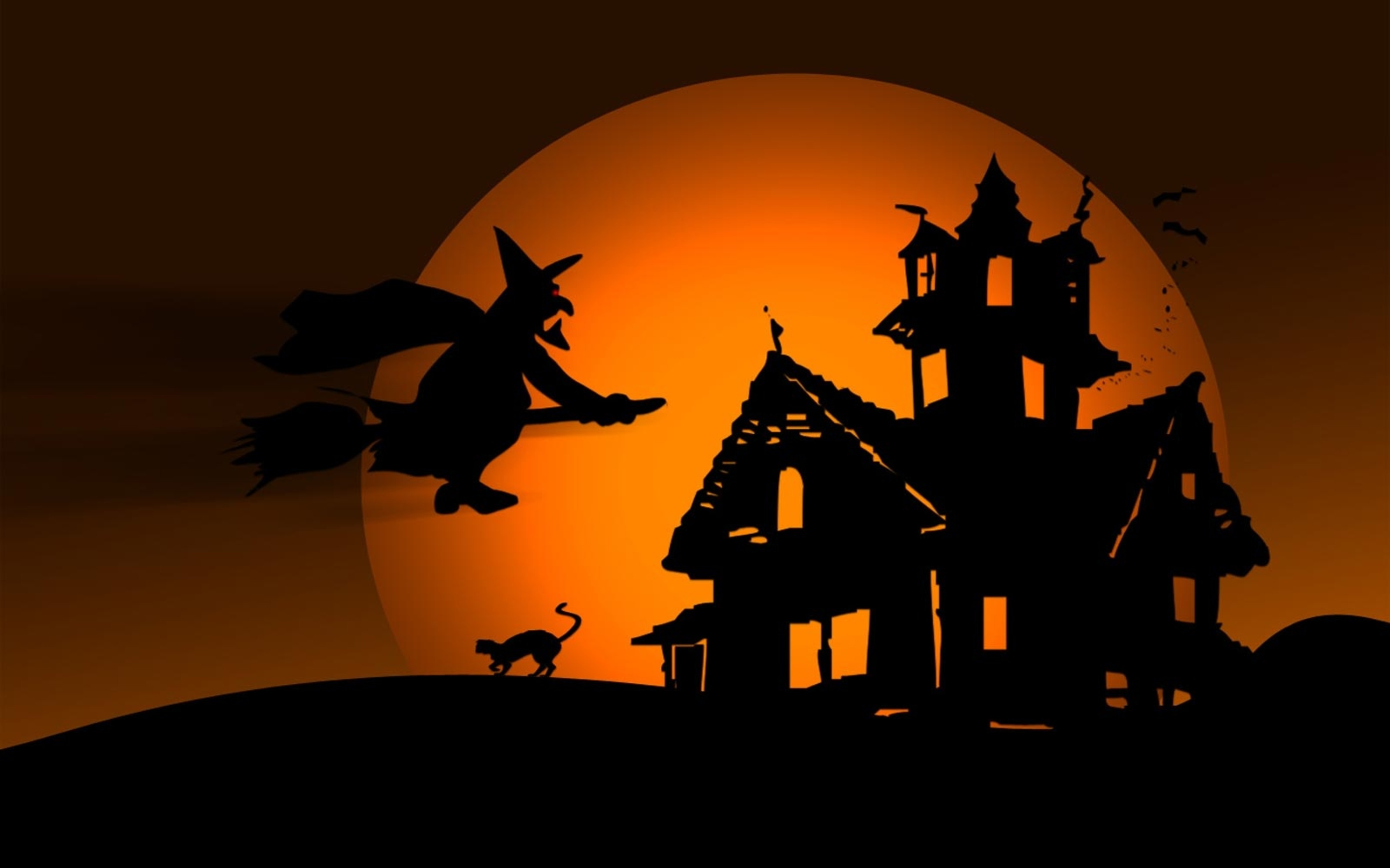 Witch in the Halloween night   HD wallpaper 5120x3200
