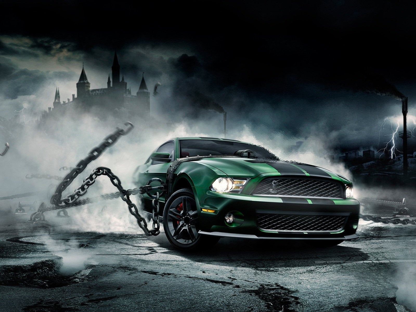 Cool Muscle Car Wallpaper 1600x1200
