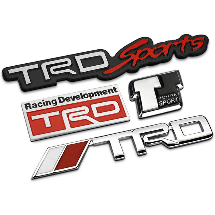 TRD Grille Emblem Car Styling For Toyota Racing Logo JDM Hood 750x750