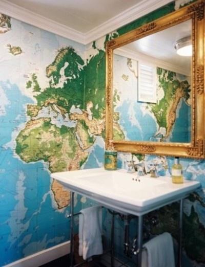 Wallpaper is Back in Style   oBaz home   handyman Pinterest 400x522