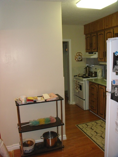 After we removed the wallpaper and painted this kitchen For a 389x518
