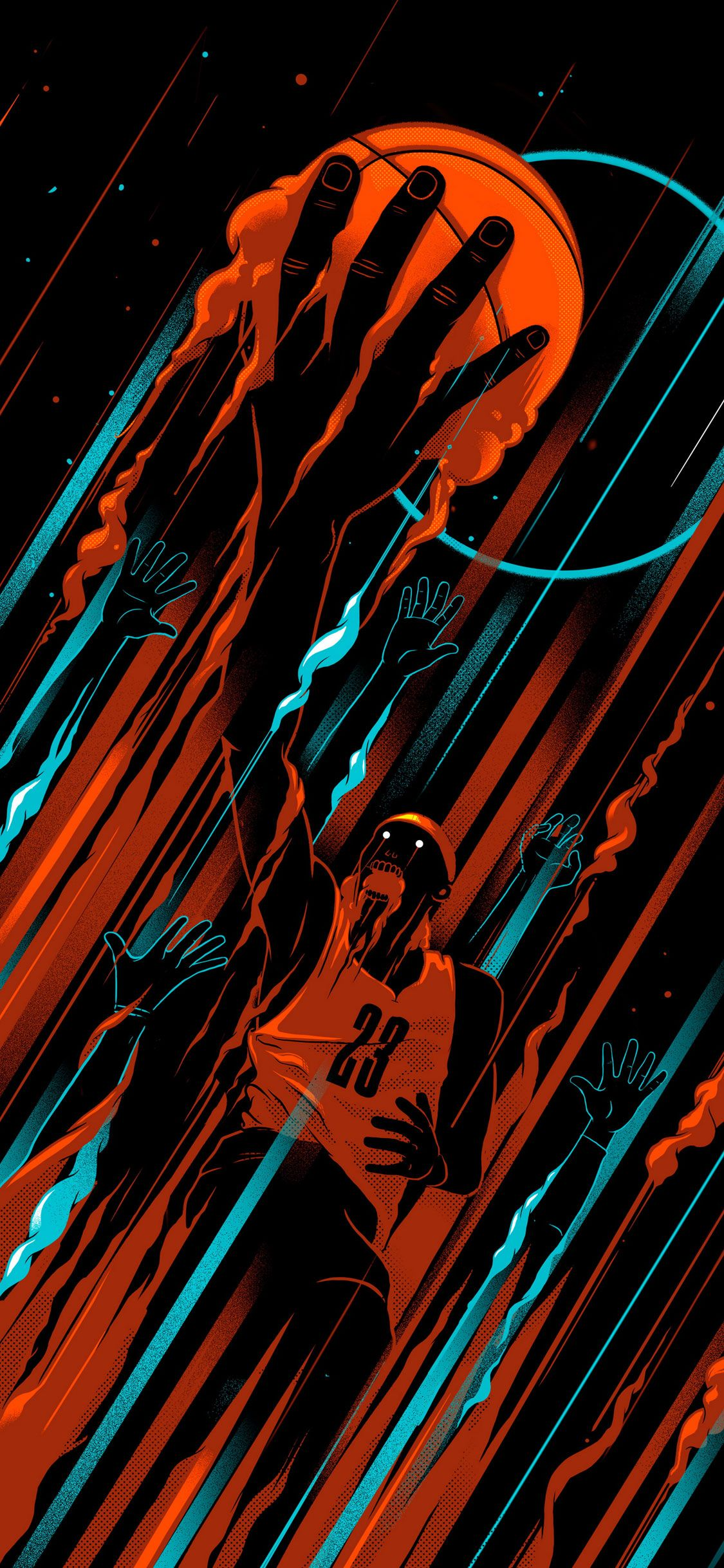 Free Download Basketball Iphone X Black Wallpaper Wallpapers