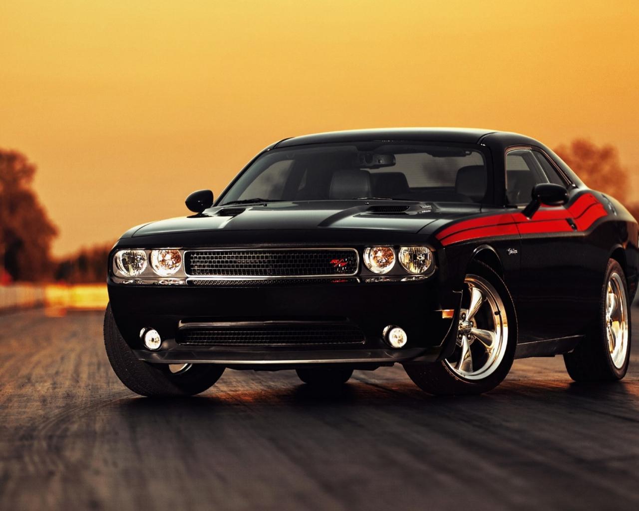 Dodge Challenger negro hd 1280x1024   imagenes   wallpapers gratis 1280x1024