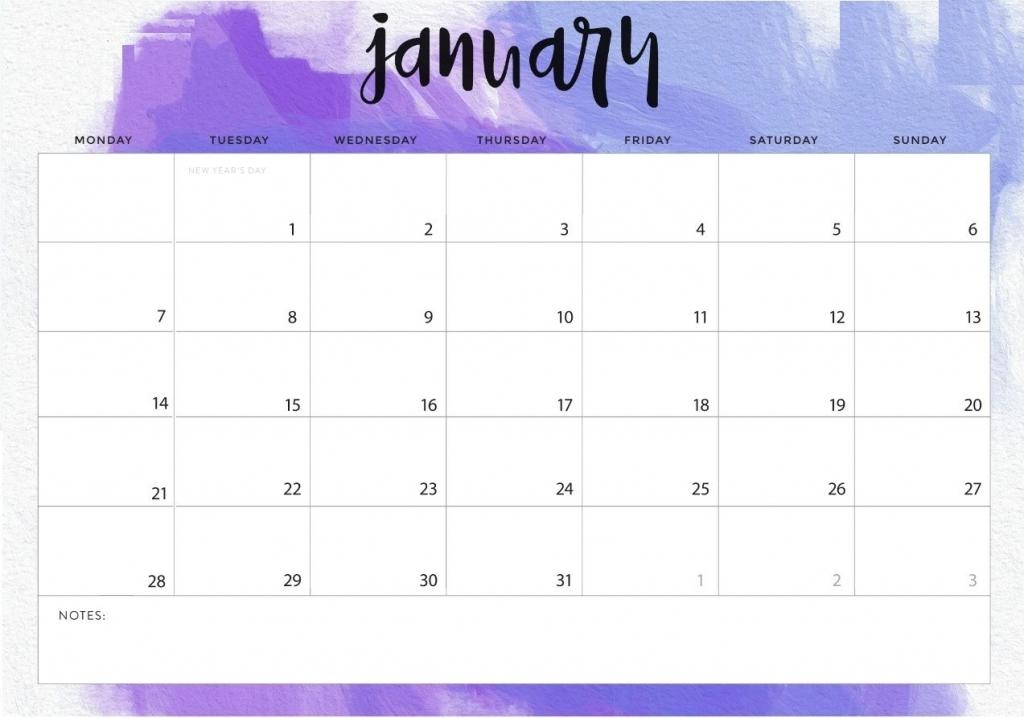 January 2019 Calendar For Desktop 2018 Calendar Printable 1024x718