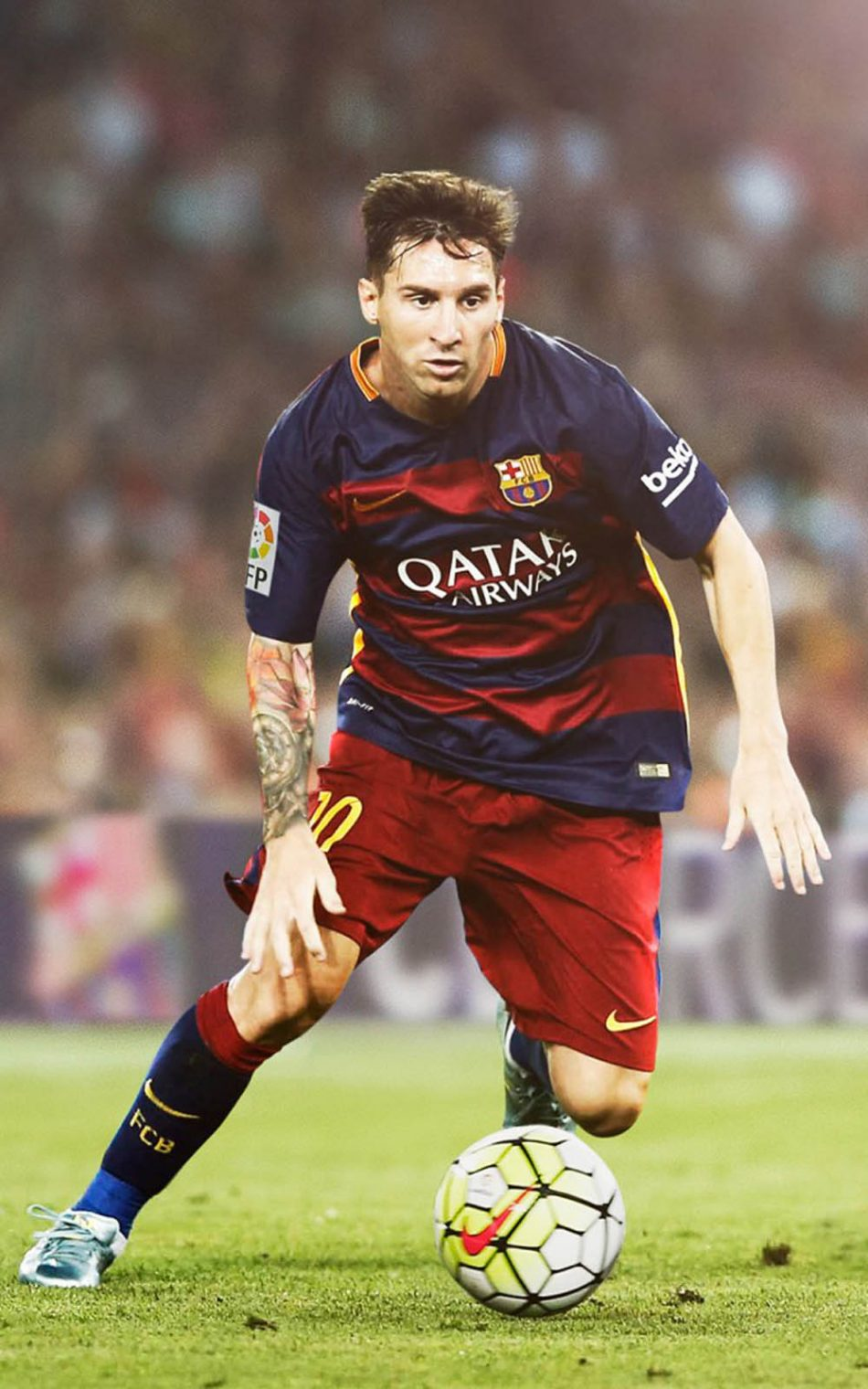 Lionel Messi Playing For FC Barcelona 4K Ultra HD Mobile 950x1520