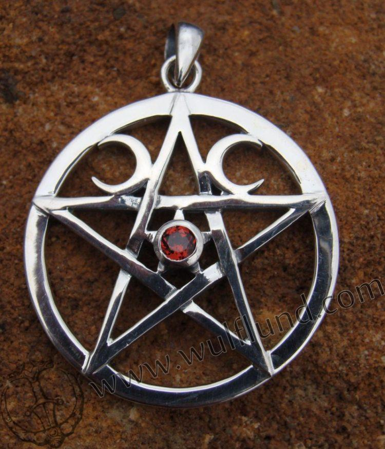 pentacle 1024 x 768 132 kb jpeg silver wiccan pentacle with garnet 750x874