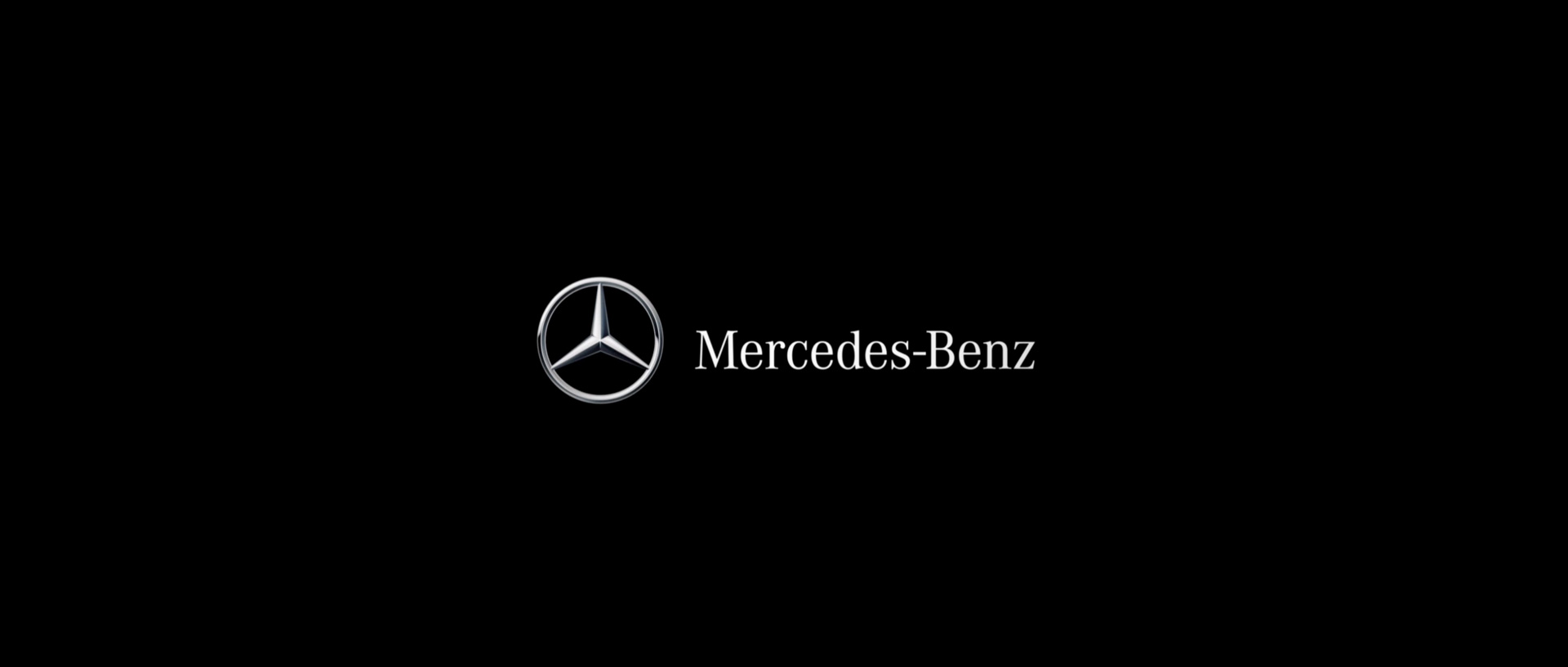 Mercedes Logo Wallpaper 1920x817