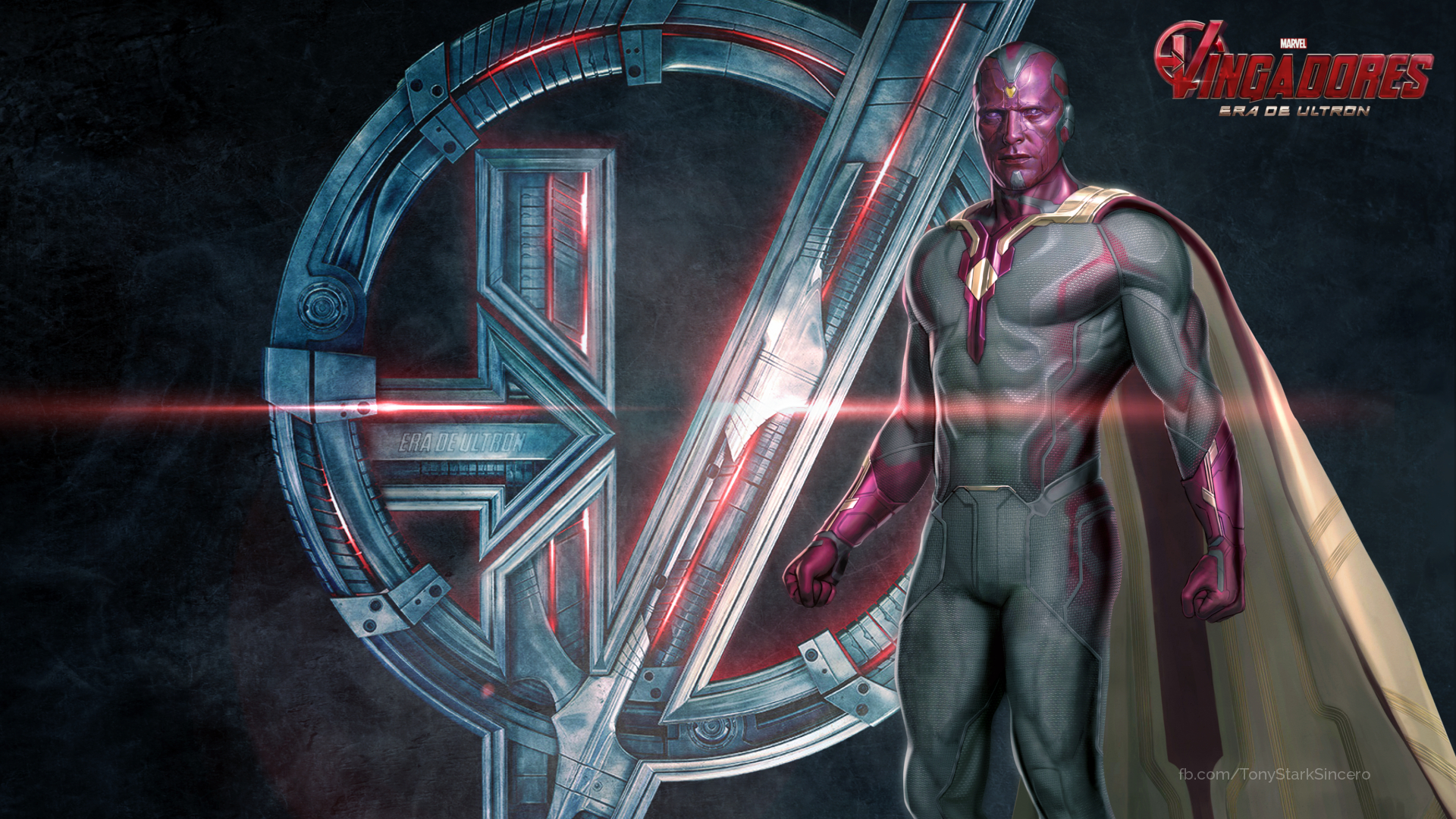 Vision In Avengers Age Of Ultron By Tony StarkSincero 1920x1080