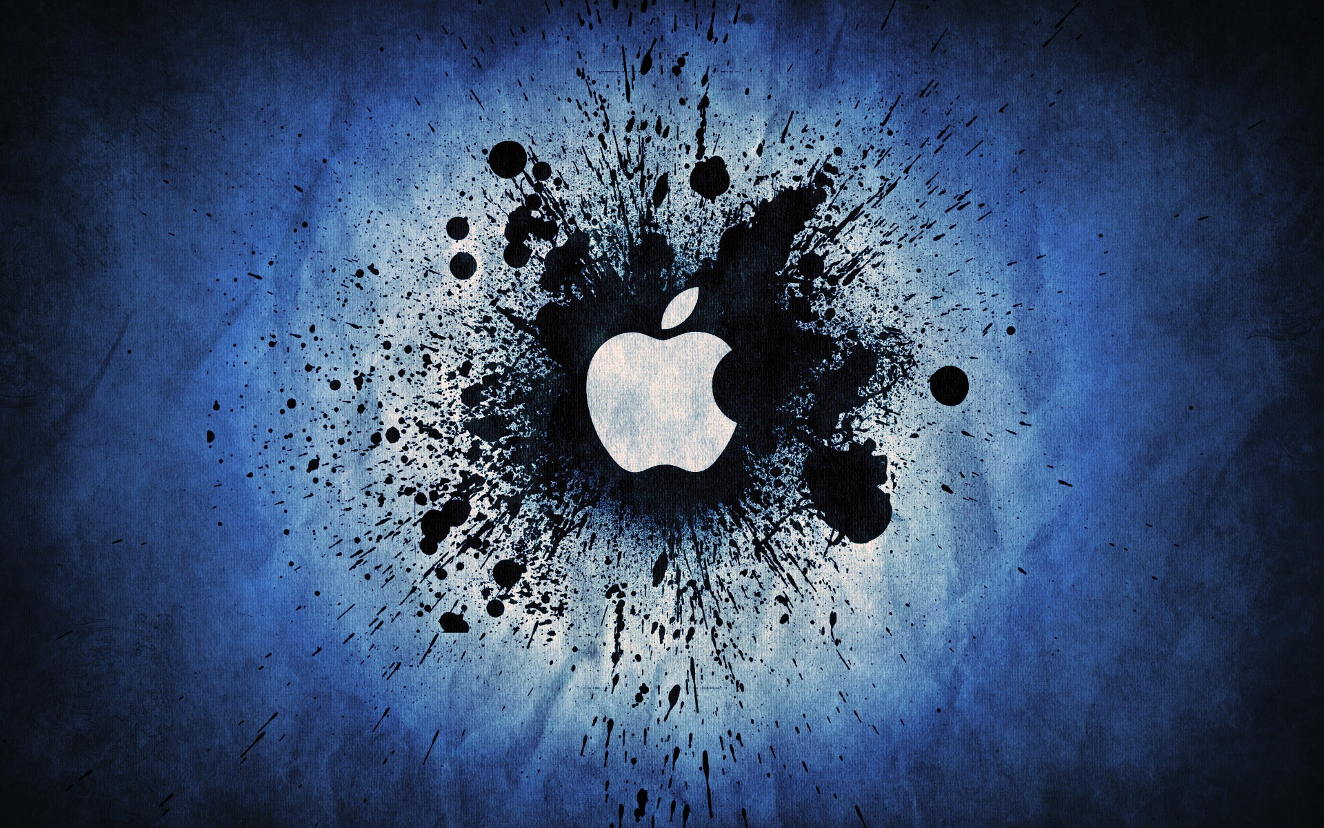 Apple   Blue Splatter desktop wallpaper 1920x1200