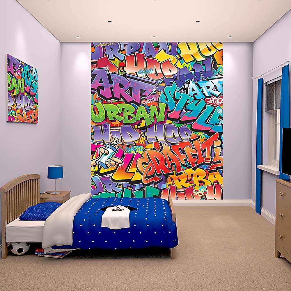 Unisex Bedroom Wallpaper Graffiti Bedroom Design Ideas Bedroom Bed Curtains Bedroom Athletics Beatrice Harris Tweed Moccasin Slipper: Graffiti Wallpaper Murals For Rooms