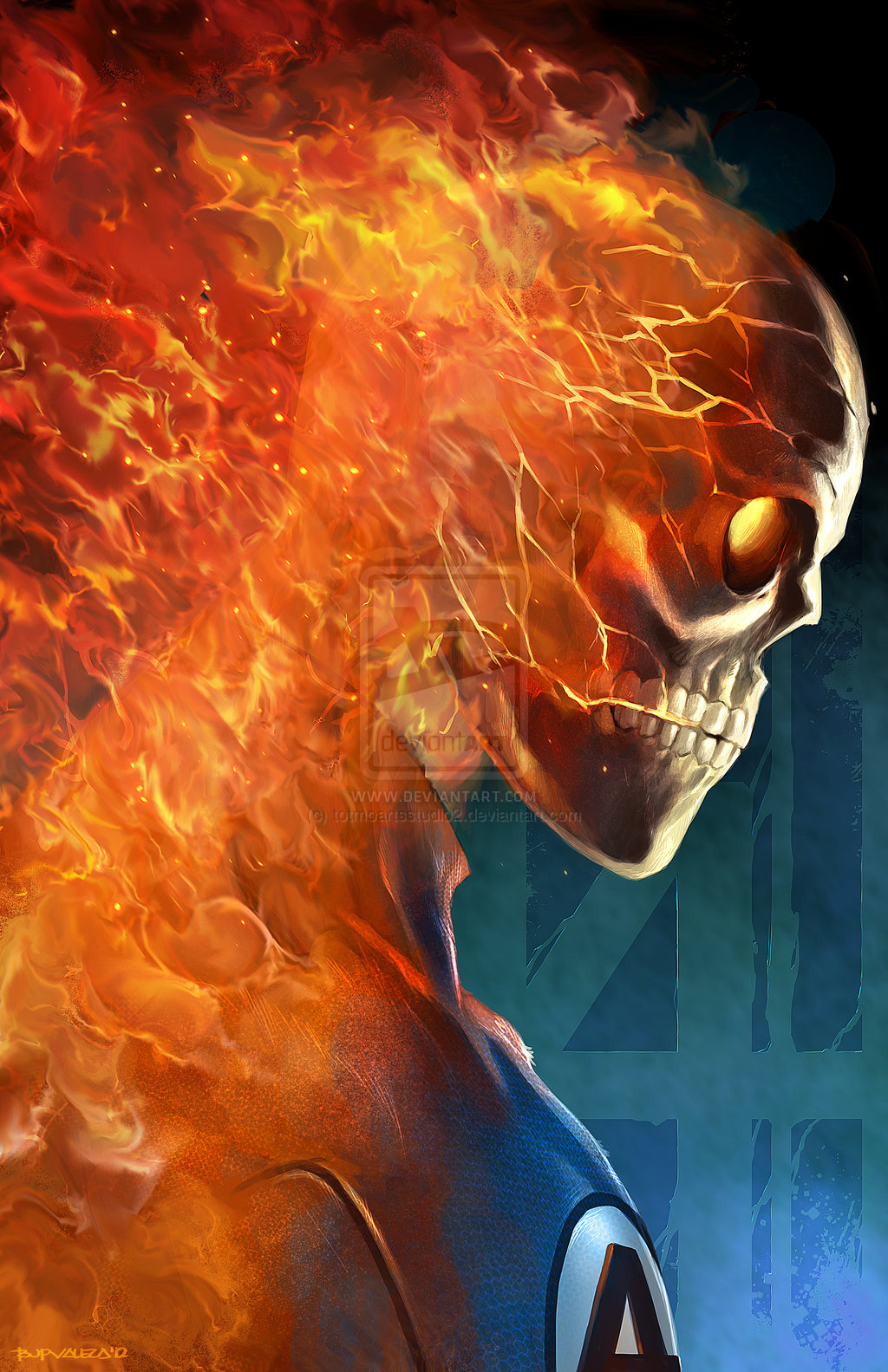 HUMAN TORCH sample by totmoartsstudio2 1024x1583