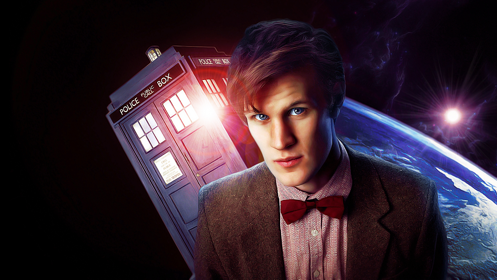 TARDIS Matt Wallpaper 1600x900 TARDIS Matt Smith Eleventh Doctor 1600x900