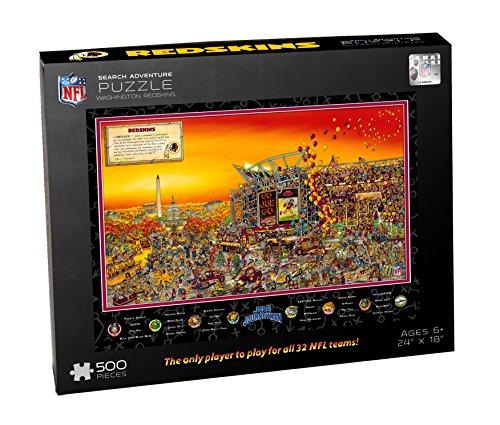 NFL JOE Washington Redskins Puzzle One Size Black 500x425