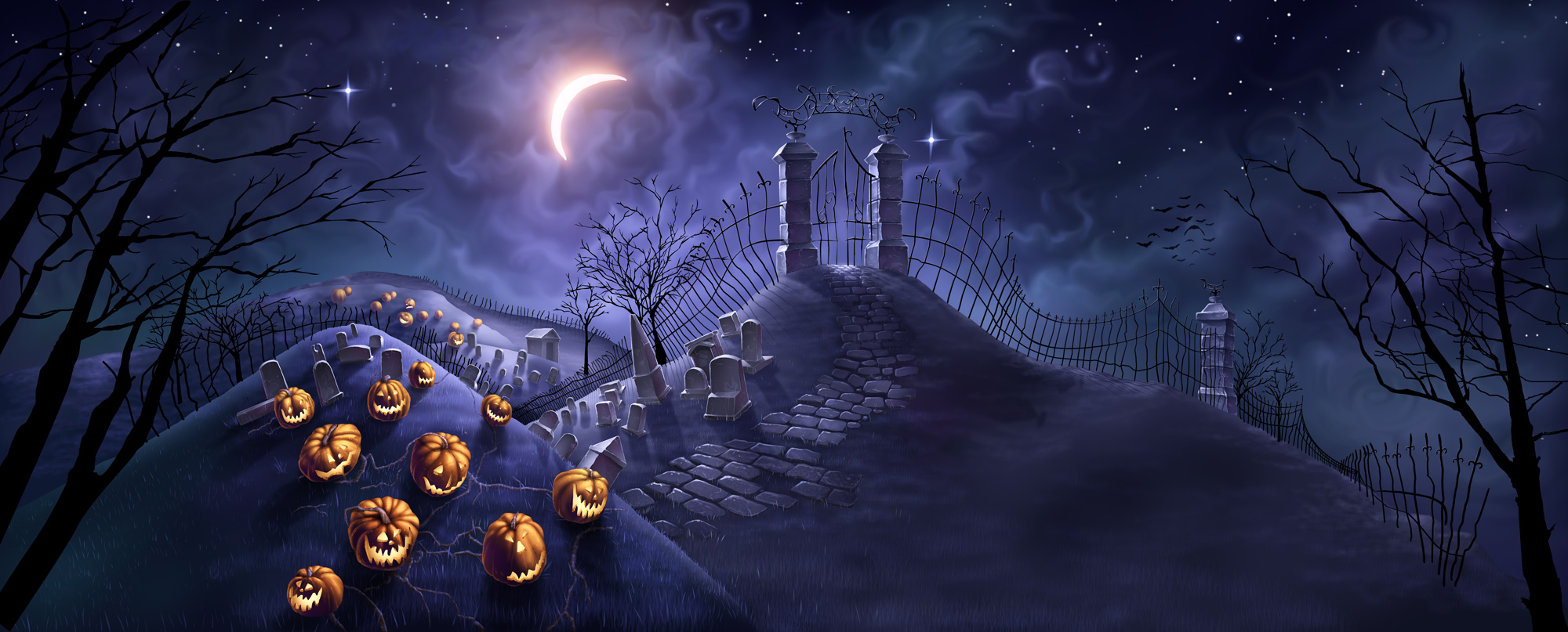 Halloween 2013 Backgrounds Wallpapers 2000x807