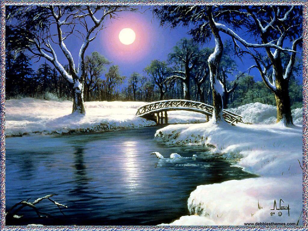 Wallpaper For Desktop Background Winter background HD 1024x768