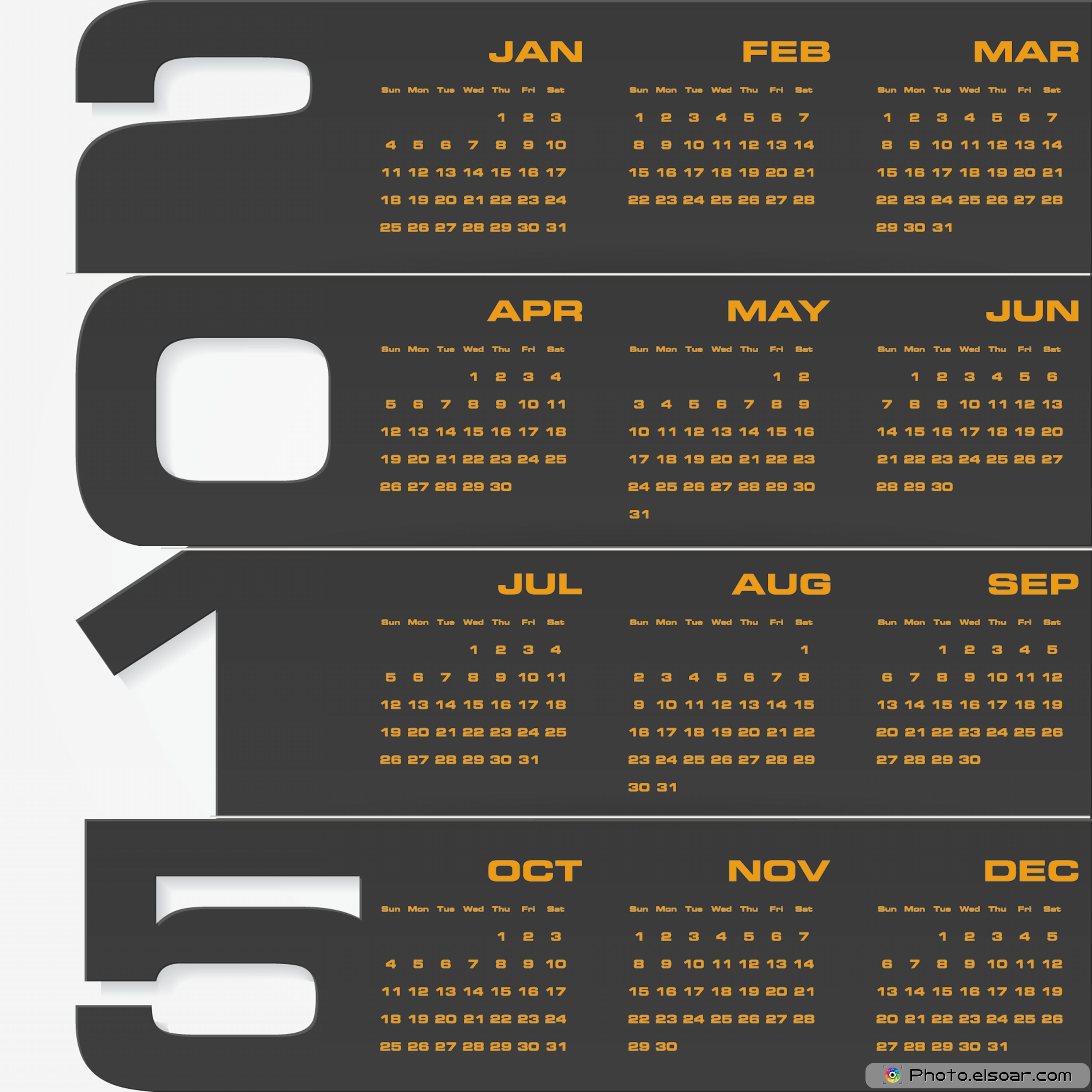Business Calendars For 2015 Awesome JPEGs Templates Elsoar 3000x3000