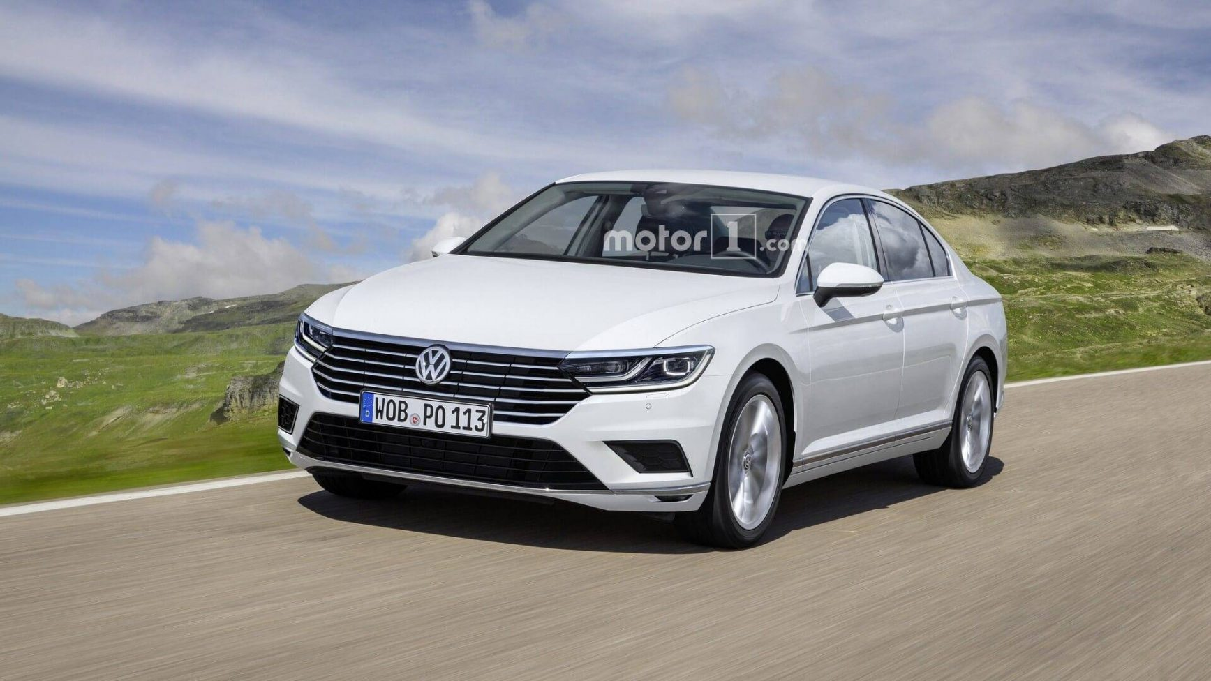 2019 Volkswagen Passat Tail Light High Resolution Wallpaper New 1735x976