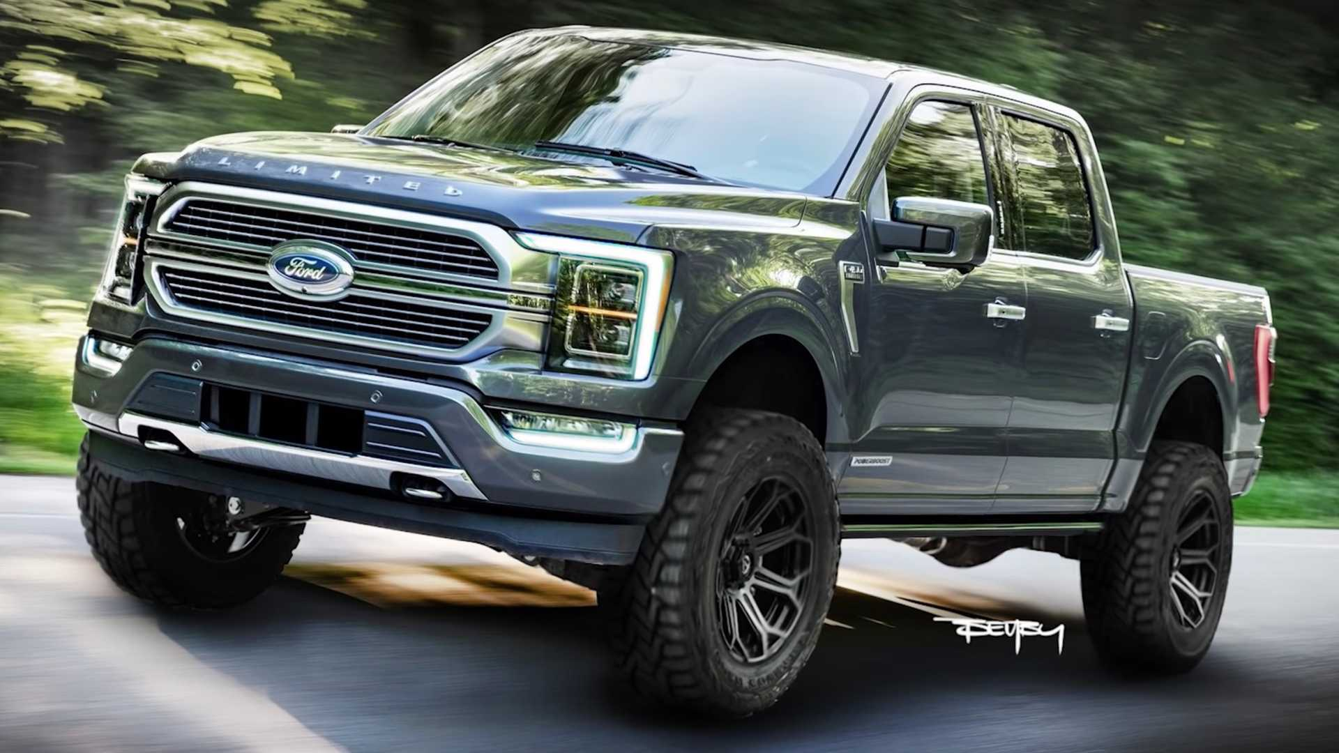 2021 Ford F 150 Rendering Gives New Pickup An Attractive Nose Job 1920x1080
