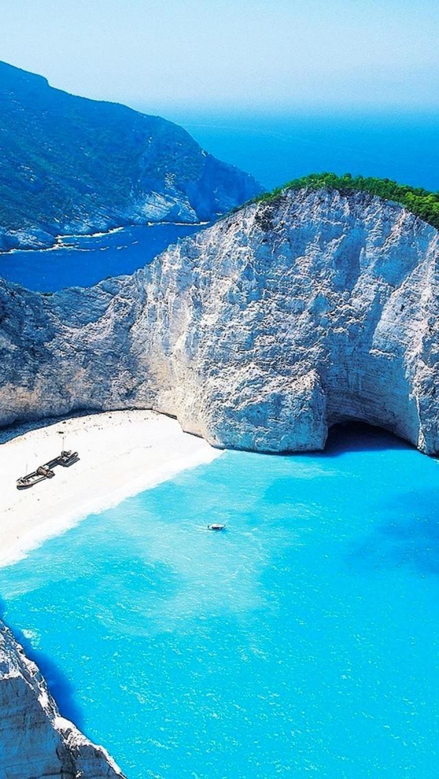 Paradise Islands Zakynthos Greece iPhone 5 Wallpaper HD 640x1136