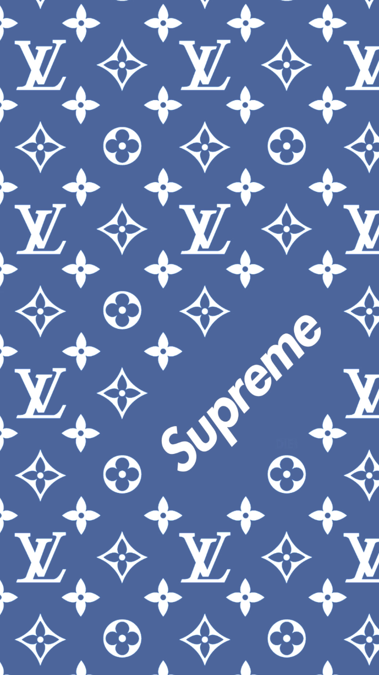 Louis Vuitton x Supreme pattern Wallpaper Wallpapers Supreme 750x1334