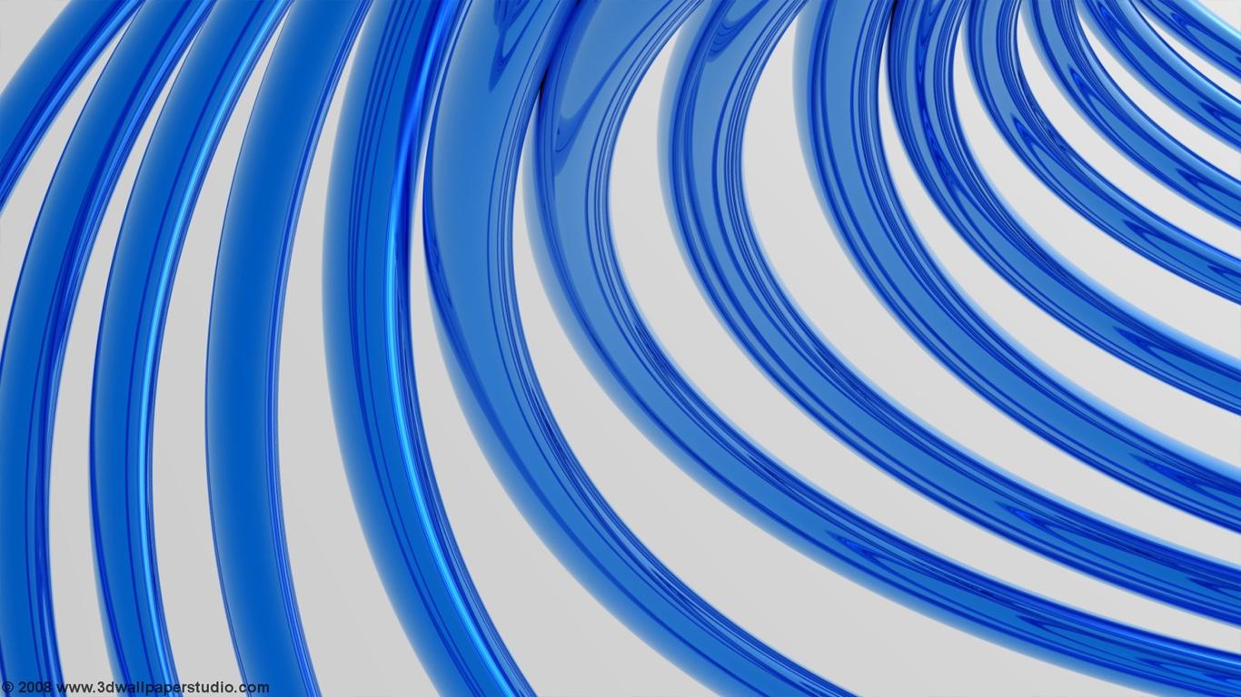 Free download Blue metal ribs wallpaper in 1366x768 screen