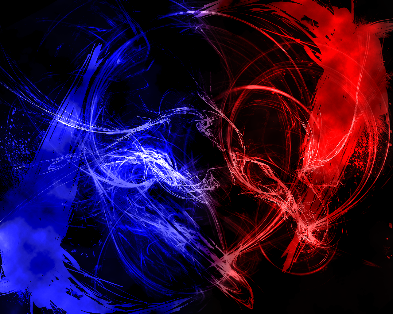 blue and red abstract - photo #2