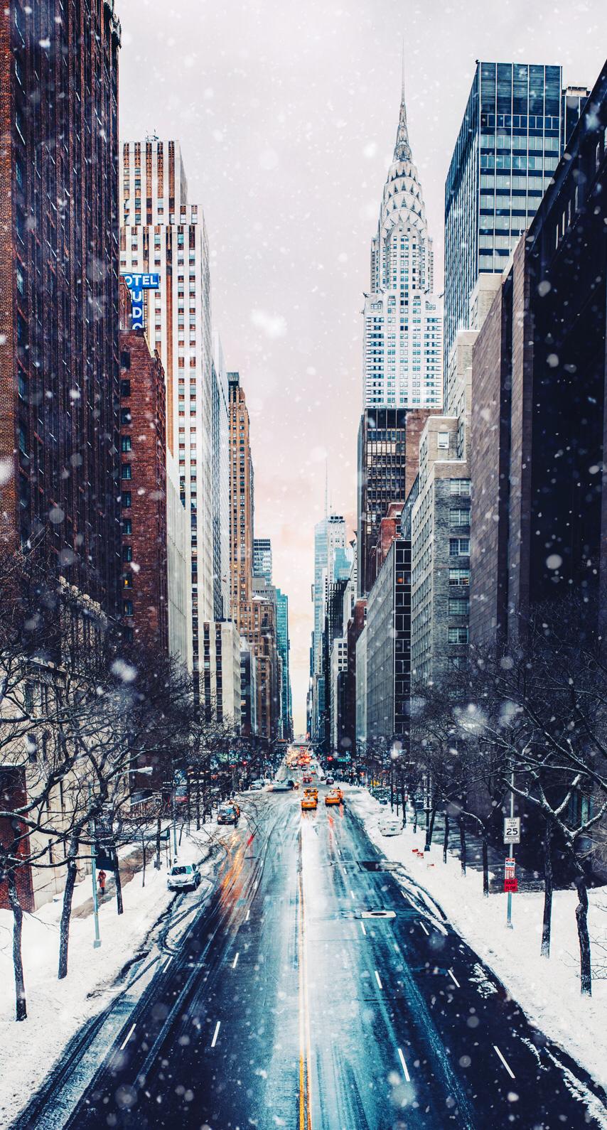 iphonewallpaper wallpaper phonewallpaper instagram city snow 854x1590