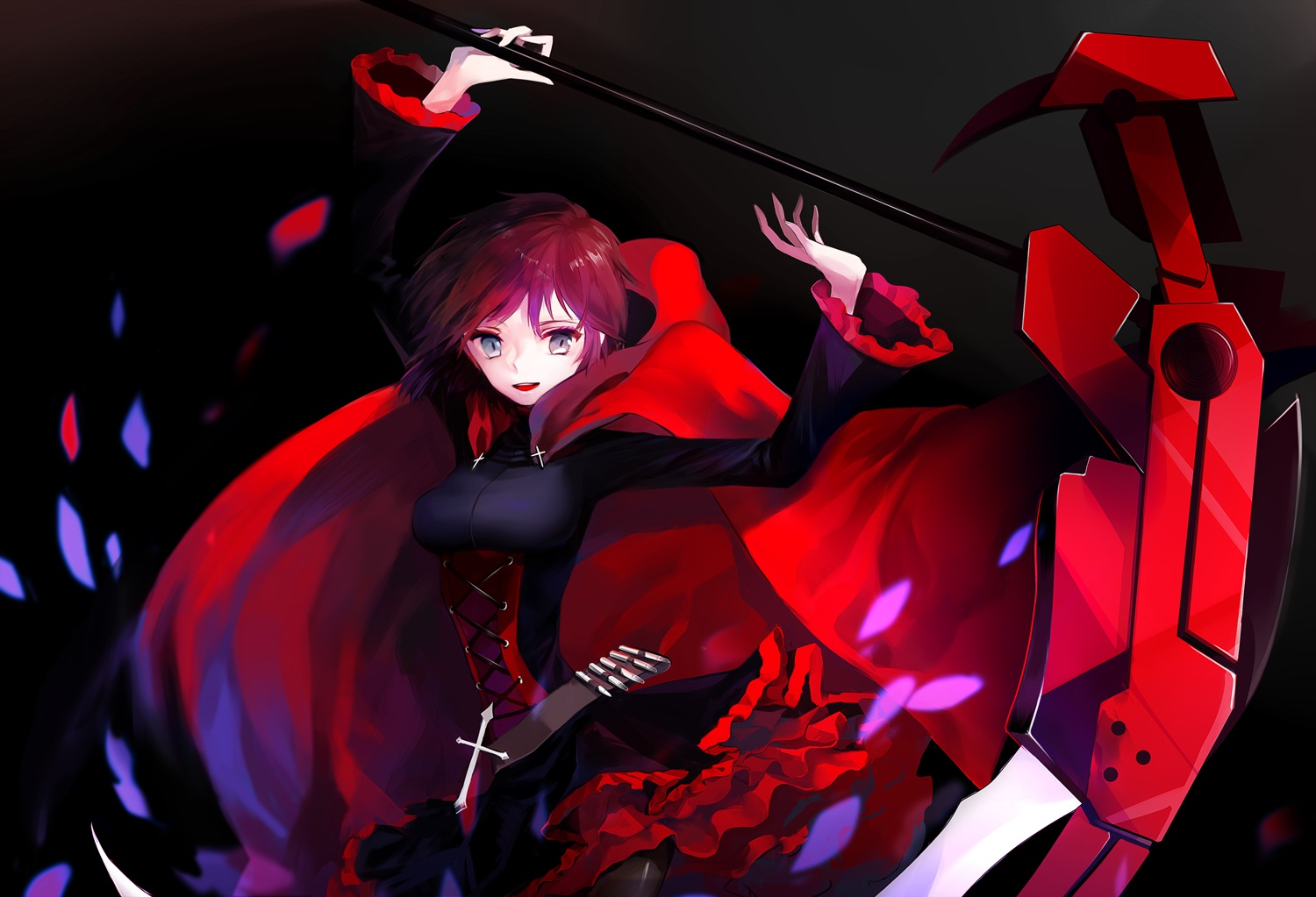 ruby rose rwby wallpaper background 1500x1023